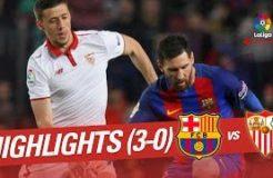 Highlights FC Barcelona vs Sevilla FC (3-0)