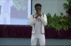 Korede Bello Sings Gospel in Church