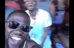 American Comedian KELVIN HART having Fun With Diamond Platnumz At Las Vegas Beach Party