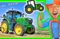 Blippi with Tractors for Toddlers   Educational Videos for Toddlers with Nursery Rhymes