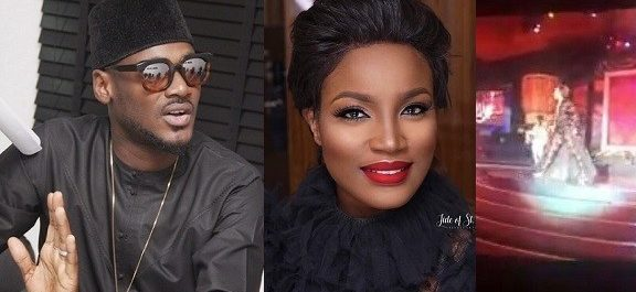 """""""I Love The Way You Handled Your Fall"""" – 2Baba Hails Seyi Shay After Her Slip On AFRIMA Stage."""