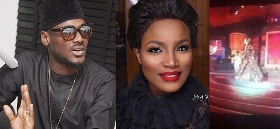 """I Love The Way You Handled Your Fall"" – 2Baba Hails Seyi Shay After Her Slip On AFRIMA Stage."
