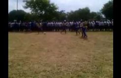 students at  Ifakara Girls secondary school   competing with other schools in sports